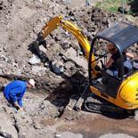Excavation In Progress - Tight Access Excavation Brisbane - ADCO Plumbing